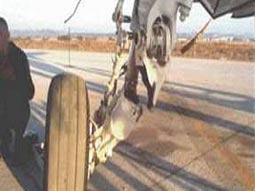 Failed Aircraft Landing Gear
