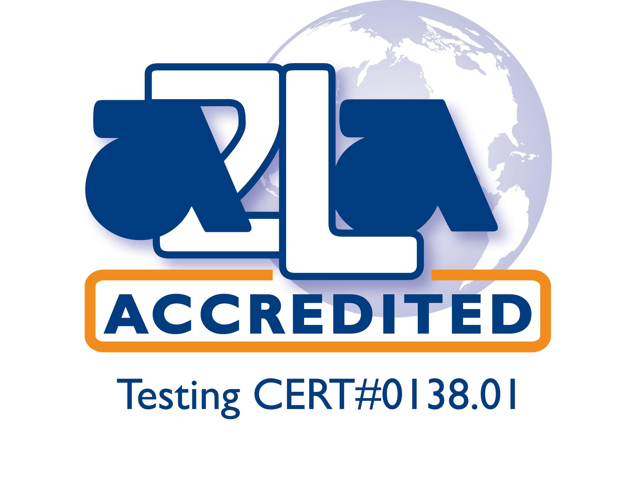 A2LA accredited symbol.0138.01-1 Logo